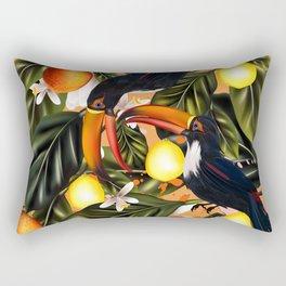 Tropical paradise. Vol5 Toucans and citrus Rectangular Pillow