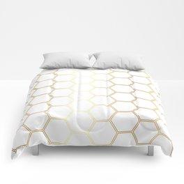 Honeycomb - Gold #170 Comforters
