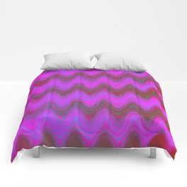 Agate Wave Pink - Mineral Series 004 Comforters