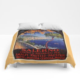 Salerno Italy vintage summer travel ad Comforters