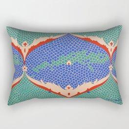 BLUE GREEN IZNIKY Rectangular Pillow