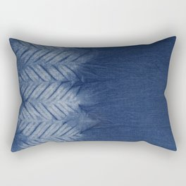Shibori Chevron Stripe Rectangular Pillow