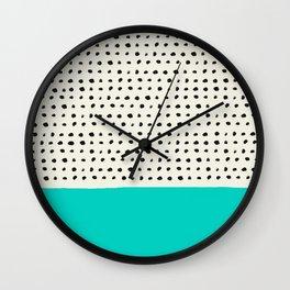 Aqua x Dots Wall Clock