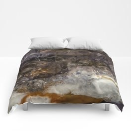 Tiny geode crystal cave #2 Comforters