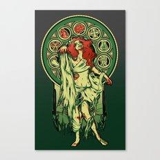 Zombie Nouveau Canvas Print