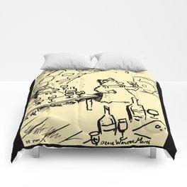 Wine-Tasting Apes Comforters