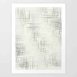 Crosshatch Silver Art Print
