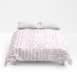 Watercolor Maze Comforters