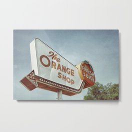 Orange Shop Metal Print