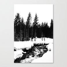 St. Helens Snowshoe + River Canvas Print