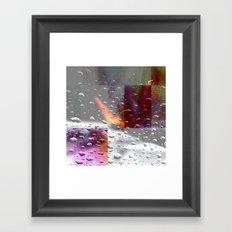 abstract drops # Framed Art Print