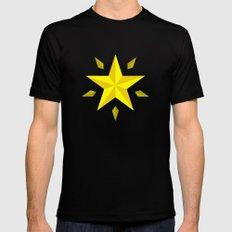 Gold Star/ Blue Mens Fitted Tee Black MEDIUM