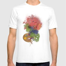 Drawing Mens Fitted Tee White MEDIUM