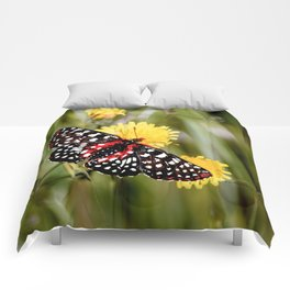 A Red Dotted Checkerspot Comforters