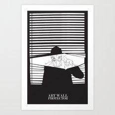 Man in the Mask -Watching your Walls Art Print