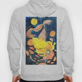 gold, Yellow and blue mermaid Hoody
