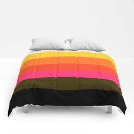 Earth and Summer Sky - Color Strips - Colors of Travel Comforters