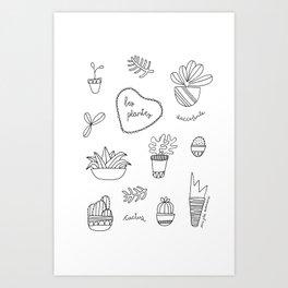 Les plantes Art Print