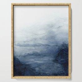 Indigo Abstract Painting | No.2 Serving Tray