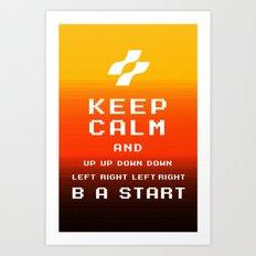 keep calm konami. Art Print