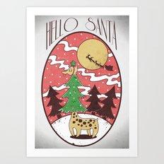 Hello Santa Art Print