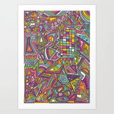 Colourful Chaos Art Print