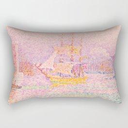 """Paul Signac """"Harbour at Marseilles"""" Rectangular Pillow"""