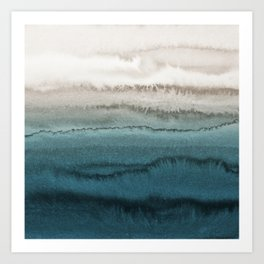 WITHIN THE TIDES - CRASHING WAVES TEAL Art Print