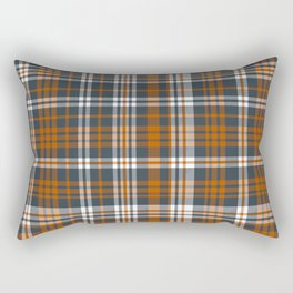Texas orange and white university texans longhorns college football sports plaid Rectangular Pillow