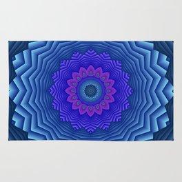 mandalas blue and violet -3- Rug