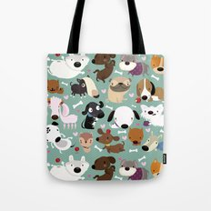 Dog pattern Tote Bag