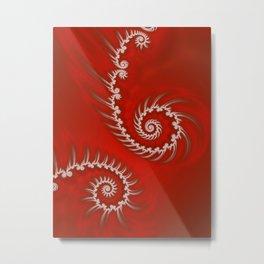 Candy Cane Stripes Flipped Metal Print