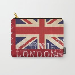 Union Jack Great Britain Flag Carry-All Pouch