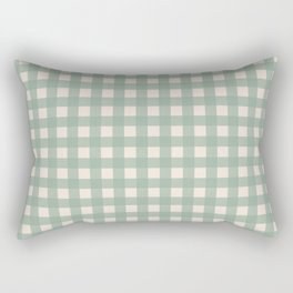 Buffalo Checks Plaid in Sage Green on Cream Rectangular Pillow