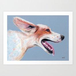 Pastel Pup (includes rescue donation!) Art Print