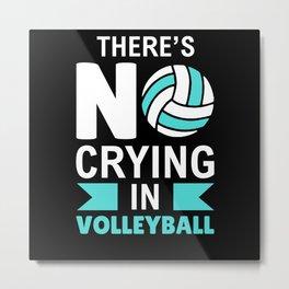 Hard Sport Volleyball Gift Metal Print