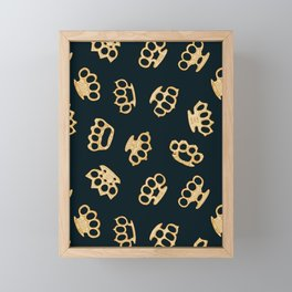 Brass Knuckles With Good Thoughts Framed Mini Art Print