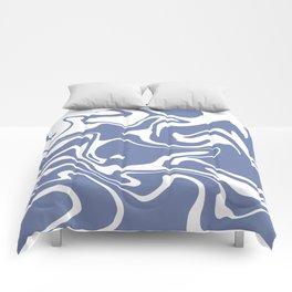 Soft Violet Liquid Marble Effect Design Comforters