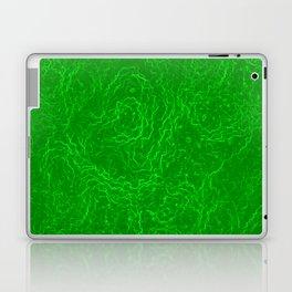 Neon Green Alien DNA Plasma Swirl Laptop & iPad Skin