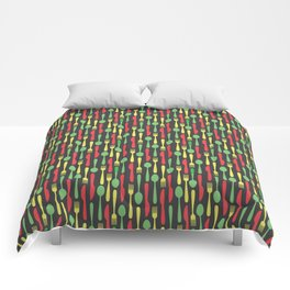 Colored Kithen Cutlery Comforters