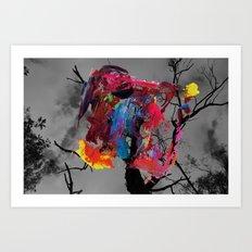Digital painting collage series #1 Art Print