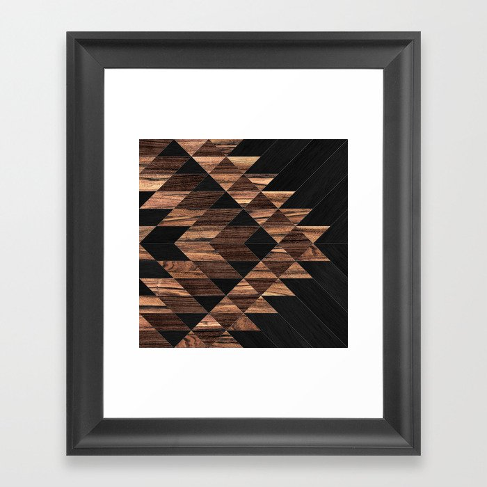Urban Tribal Pattern No.11 - Aztec - Wood Gerahmter Kunstdruck