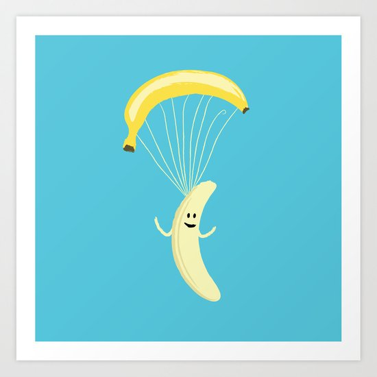 Bananachute Art Print