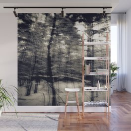 Winter forest Wall Mural