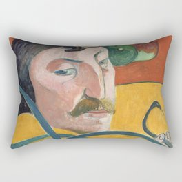Self-Portrait with Halo and Snake by Paul Gauguin Rectangular Pillow