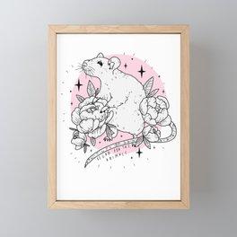 Vegan For The Animals Framed Mini Art Print