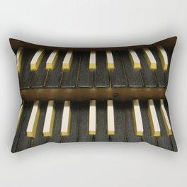 Organ Keys Rectangular Pillow