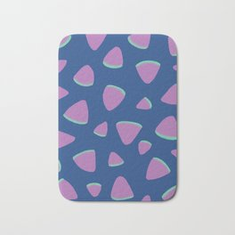 Abstract Graphic Pattern | Blue | Pink | Green Bath Mat
