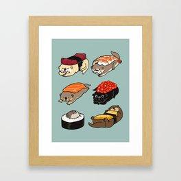 Sushi Otter Framed Art Print