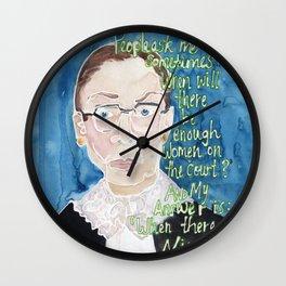 Ruth Bader Ginsberg Wall Clock